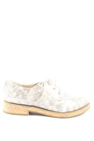 Tamaris Scarpa Oxford bianco sporco-marrone stile professionale
