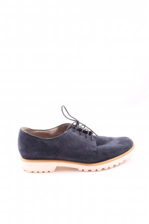 Tamaris Scarpa Oxford blu-bianco elegante