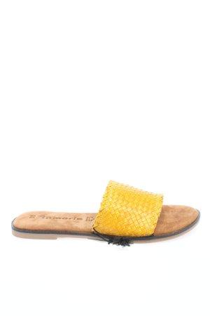 Tamaris Pantoufles jaune primevère style décontracté