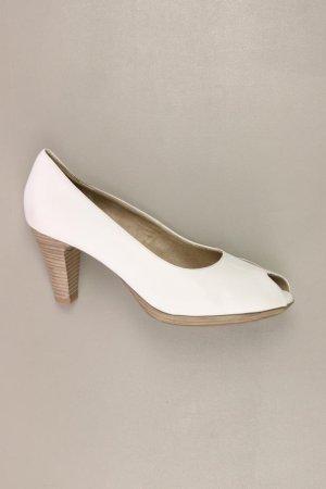 Tamaris Peep Toes Größe 41 weiß aus Leder