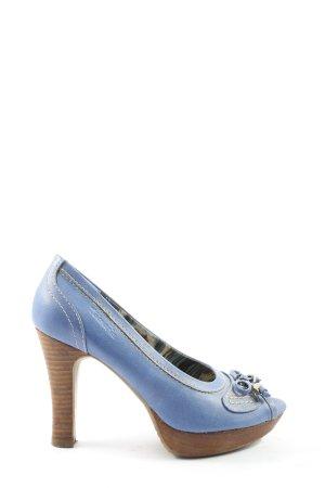 Tamaris Peeptoe Pumps blau Casual-Look