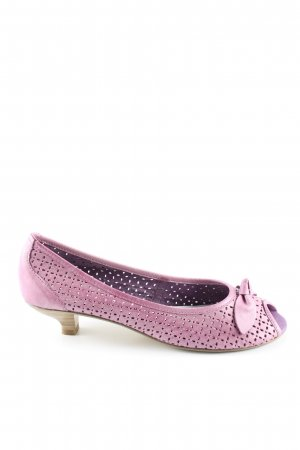 Tamaris Peep Toe Pumps pink casual look