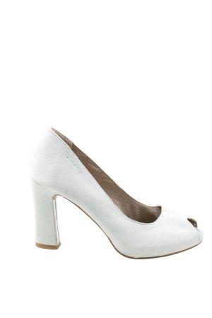 Tamaris Peeptoe Pumps weiß Elegant