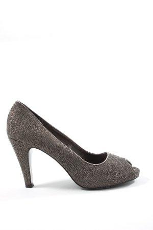 Tamaris Tacones con punta abierta negro-color plata look casual