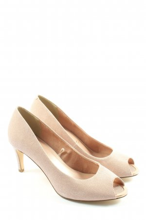 Tamaris Peep Toe Pumps cream elegant