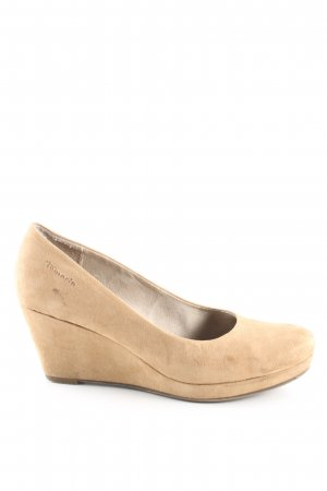 Tamaris Plateau-Pumps creme Casual-Look