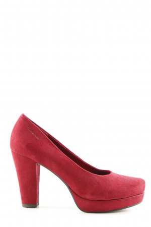 Tamaris Tacones con plataforma rojo estilo «business»