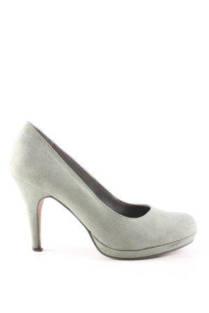 Tamaris Tacones con plataforma gris claro look casual