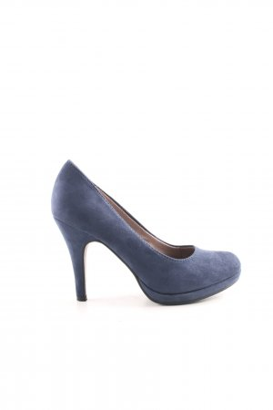 Tamaris Plateau-Pumps blau Casual-Look