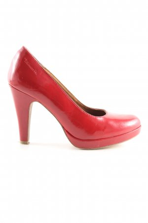 Tamaris Plateau-Pumps rot Casual-Look