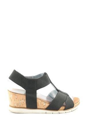 Tamaris Sandalo con plateau nero stile casual