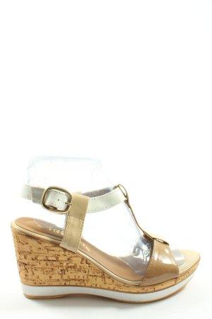 Tamaris Wedge Sandals cream-natural white casual look