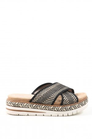 Tamaris Plateauzool sandalen zwart-wit casual uitstraling