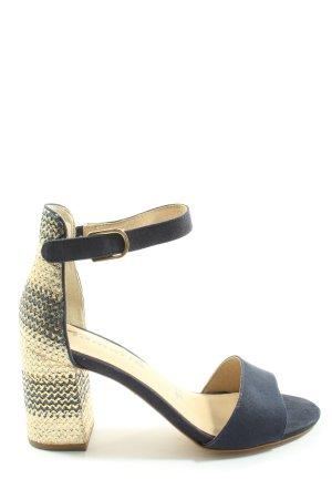 Tamaris Riemchen-Sandaletten blau-goldfarben Casual-Look