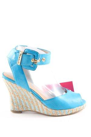 Tamaris Plateau-Sandaletten blau Elegant