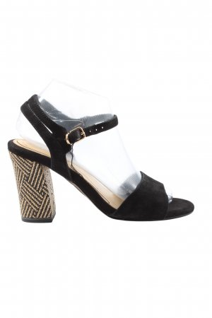 Tamaris Platform High-Heeled Sandal black-natural white casual look