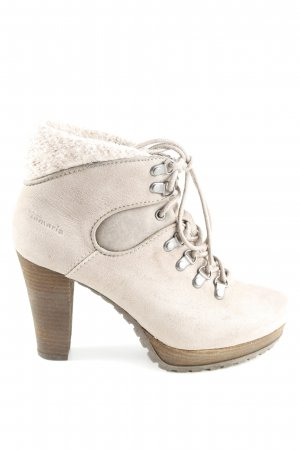 Tamaris Plateau-Stiefeletten creme Business-Look