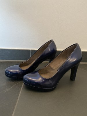 Tamaris Pumps Blau Glänzend 1x getragen