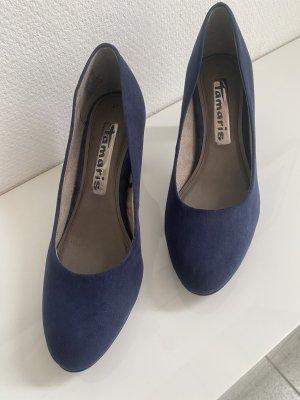 Tamaris Pumps hohe Schuhe dunkelblau Größe 37