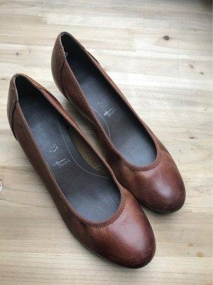 Tamaris Wedge Pumps cognac-coloured-brown