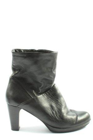 Tamaris Reißverschluss-Stiefeletten schwarz Motivdruck Casual-Look