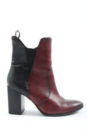 Tamaris Reißverschluss-Stiefeletten rot-schwarz Farbverlauf Casual-Look