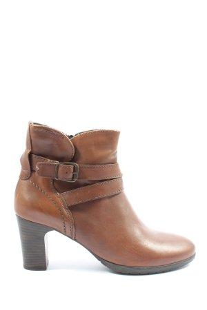 Tamaris Reißverschluss-Stiefeletten braun-bronzefarben Casual-Look