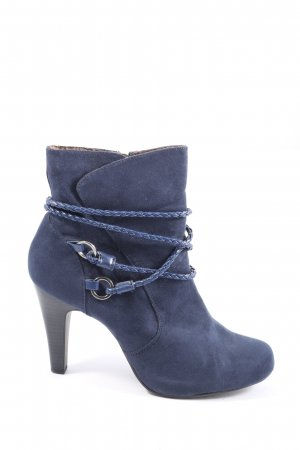 Tamaris Reißverschluss-Stiefeletten blau Casual-Look