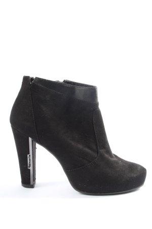 Tamaris Reißverschluss-Stiefeletten schwarz Business-Look