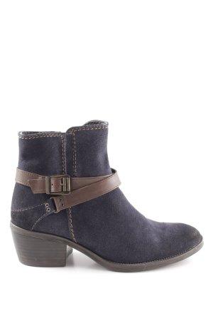 Tamaris Reißverschluss-Stiefeletten dunkelblau-braun schlichter Stil