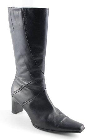 Tamaris Reißverschluss-Stiefeletten schwarz klassischer Stil