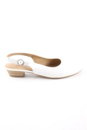 Tamaris Baleriny z rzemykami biały Elegancki