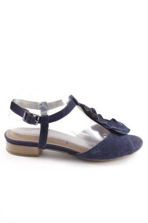 Tamaris Riemchen-Sandalen blau Casual-Look
