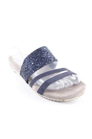 Tamaris Riemchen-Sandalen grau-dunkelblau Casual-Look