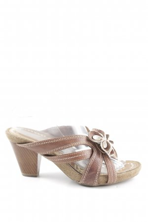 Tamaris Riemchen-Sandaletten braun-weiß Casual-Look