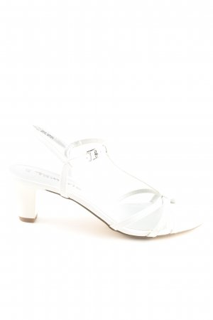 Tamaris Strapped High-Heeled Sandals white casual look