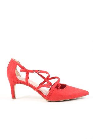 Tamaris Riemchen-Sandaletten rot Casual-Look