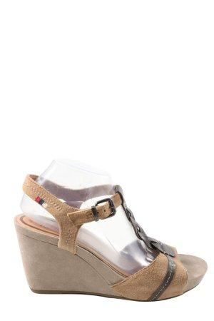 Tamaris Riemchen-Sandaletten creme-braun Casual-Look