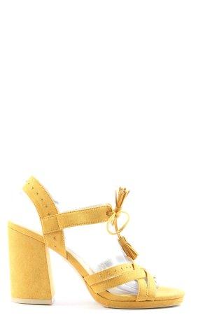 Tamaris Riemchen-Sandaletten blassgelb Elegant