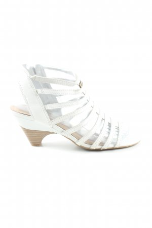 Tamaris Riemchen-Sandaletten weiß Casual-Look
