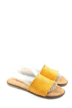 Tamaris Sandales confort jaune primevère style décontracté