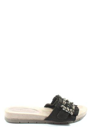Tamaris Sabot w kolorze białej wełny-czarny W stylu casual