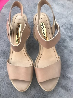 Tamaris Platform Sandals beige