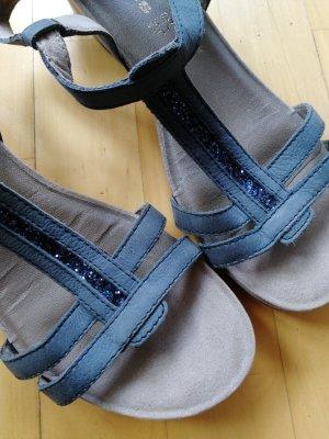 Tamaris Sandalen blau mit Glitzer