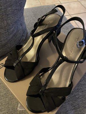 Tamaris Sandalen mit Absatz schwarz