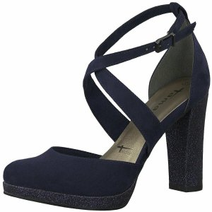 Tamaris Sandalette Gr.36 Blau NEU