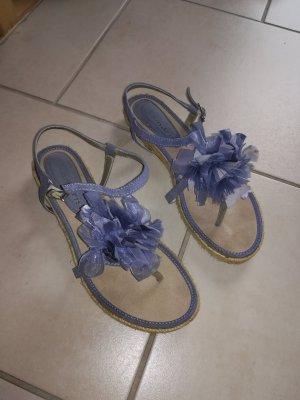 Tamaris Sandalette Gr. 39 blau wie neu!