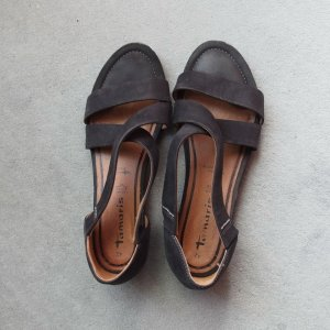 Tamaris Strapped Sandals black leather