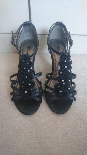 Tamaris Sandaletten schwarz Gr. 37 - 6cm Absatz