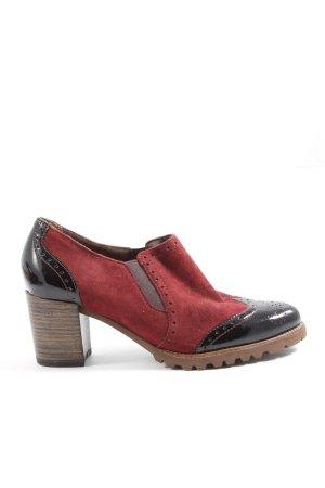 Tamaris Slip-on noir-rouge style d'affaires